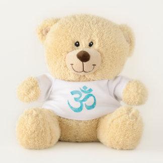 Blue Watercolor Ohm Sign Teddy Bear