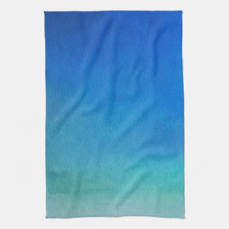 Blue Watercolor Ombre Kitchen Towel