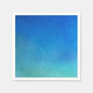 Blue Watercolor Ombre Paper Napkins