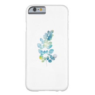 Blue Watercolor Paint Leaf Barely There iPhone 6 Case