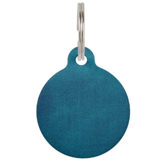 Blue Watercolor Pet Tag
