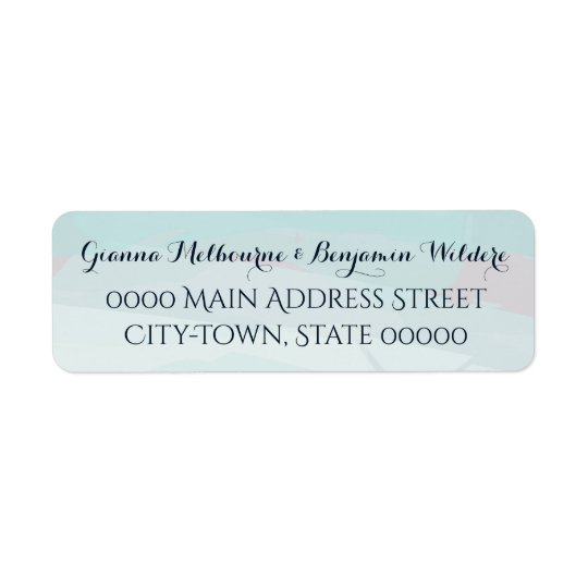 Blue Watercolor Return Address Labels