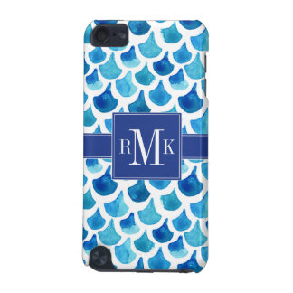 Blue Watercolor Scale Pattern iPod Touch 5G Covers