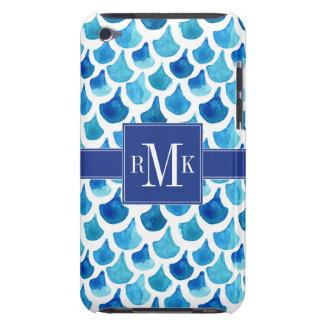 Blue Watercolor Scale Pattern iPod Touch Case-Mate Case