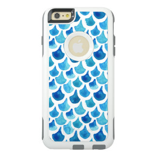 Blue Watercolor Scale Pattern OtterBox iPhone 6/6s Plus Case
