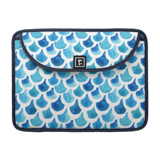 Blue Watercolor Scale Pattern Sleeve For MacBooks