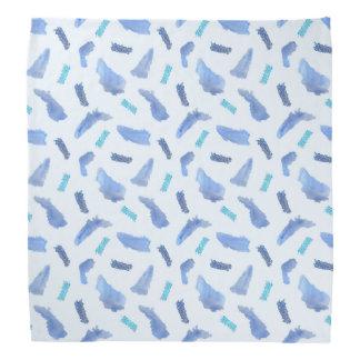 Blue Watercolor Spots Bandana