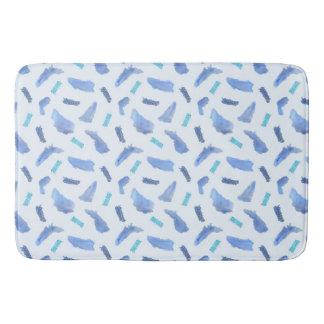 Blue Watercolor Spots Large Bath Mat