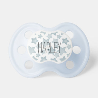 Blue Watercolor Stars Pacifier