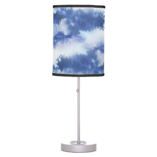 Blue Watercolor Stylish Room Accent Table Lamp