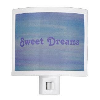 Blue Watercolor Sweet Dreams Nightlight Night Lites