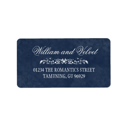 Blue Watercolor Wedding Address Labels