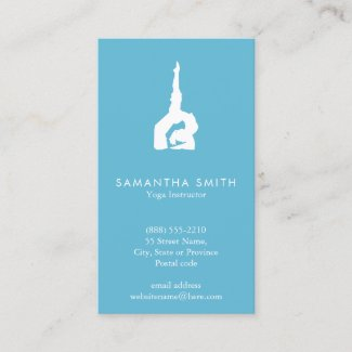 Blue Watercolor yoga Business Card