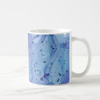 Blue Watercolour Splat Coffee Mug