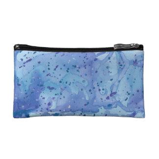 Blue Watercolour Splat Makeup Bag