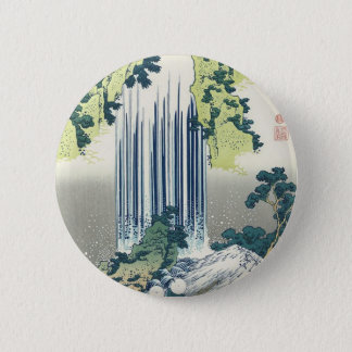 Blue Waterfall 2 Inch Round Button