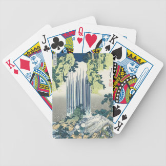 Blue Waterfall Bicycle Playing Cards