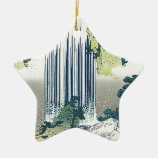 Blue Waterfall Ceramic Ornament