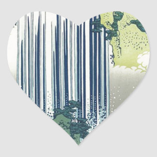 Blue Waterfall Heart Sticker