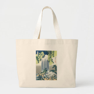 Blue Waterfall Large Tote Bag