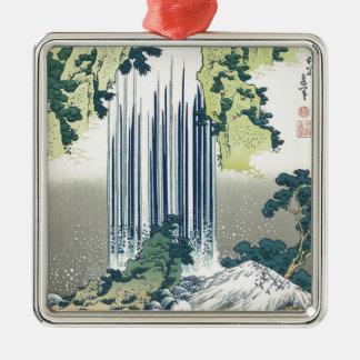 Blue Waterfall Metal Ornament