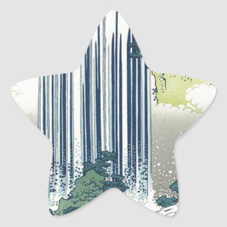 Blue Waterfall Star Sticker