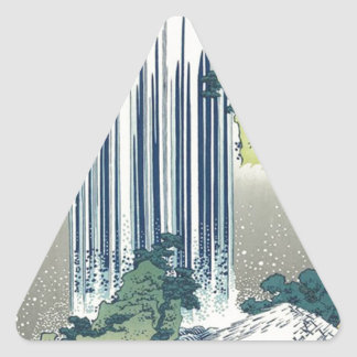 Blue Waterfall Triangle Sticker