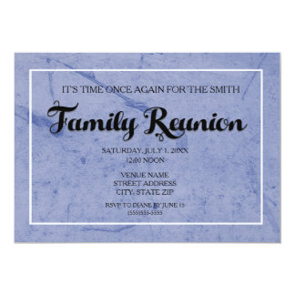 Blue Waterpaint Family Reunion Invitation