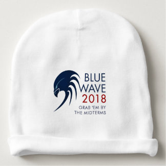 Blue Wave 2018 Tsunami Resistance Midterm Election Baby Beanie