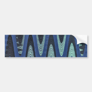 blue wave abstract bumper sticker