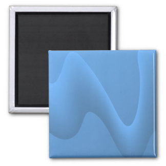 Blue Wave Abstract Image Design. Magnet