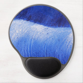 Blue Wave Abstract Painted Ocean Sea Painting Gel Mouse Pad
