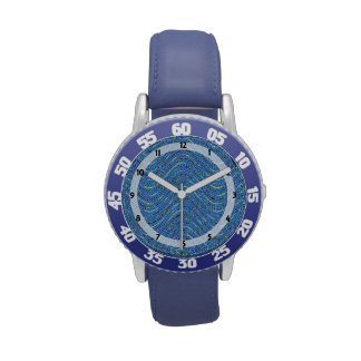 blue wave abstract pattern watches