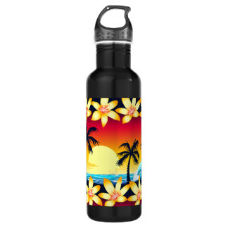 Blue wave at sunrise 710 ml water bottle