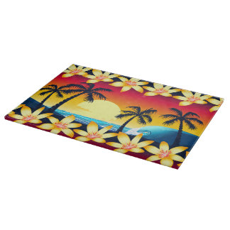 Blue wave at sunrise cutting board