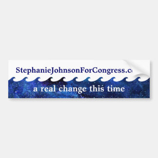 Blue Wave Election Campaign 2018 Personalized Bumper Sticker