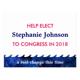Blue Wave Election Campaign 2018 Personalized Postcard