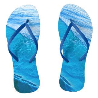Blue wave flip flops
