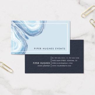 Blue Wave Geode Business Card