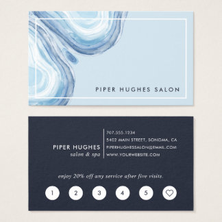 Blue Wave Geode | Loyalty Business Card