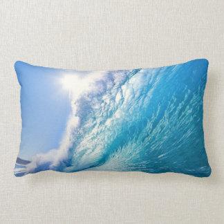 Blue wave lumbar pillow