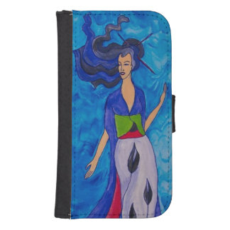 Blue wave samsung s4 wallet case