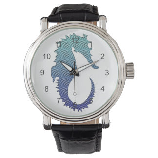 Blue Wave Seahorse Watches