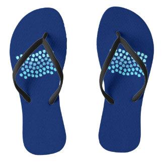 Blue Waves Adult Slim Strap Flip Flops