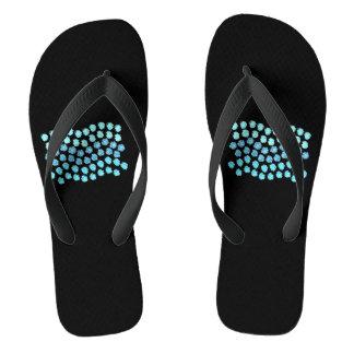 Blue Waves Adult Wide Strap Flip Flops