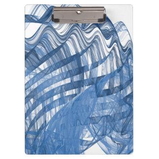 Blue waves clipboard
