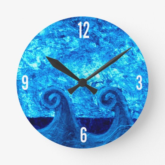 Blue Waves Clock