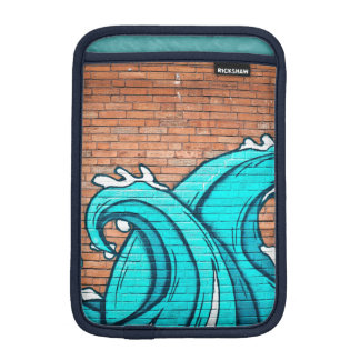 Blue Waves Cool Mural Wall Graffiti iPad Mini Sleeve