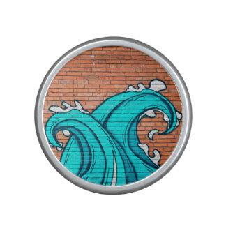 Blue Waves Cool Mural Wall Graffiti Speaker