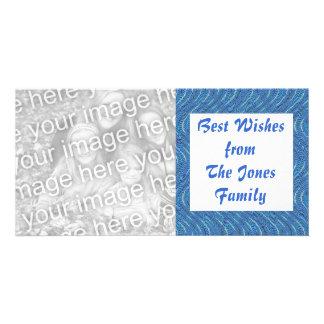 blue waves custom photo card